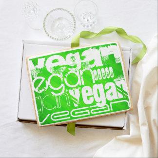 Vegan; Neon Green Stripes Jumbo Cookie