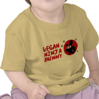 Vegan Ninja Bunny T Shirts