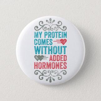 Vegan No Added Hormones Pinback Button