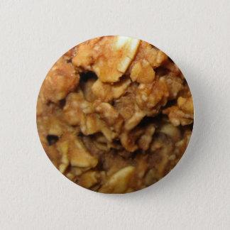 Vegan Oatmeal Cookies Pinback Button