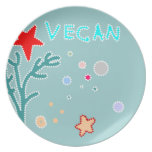 vegan ocean starfish plate