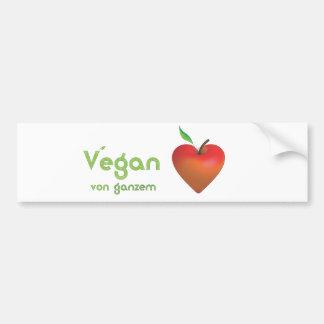 Vegan of whole heart (red apple heart) bumper sticker