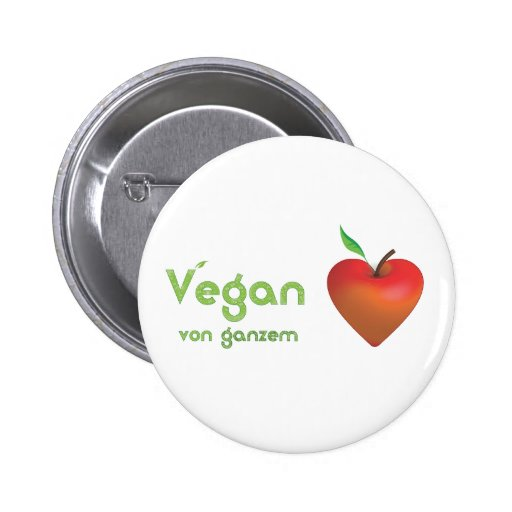 Vegan of whole heart (red apple heart) buttons