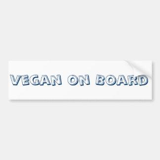 Vegan on Board Bumper Sticker Car Bumper Sticker