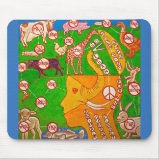 vegan open mind mouse pad