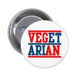 Vegan or Vegetarian Pinback Buttons