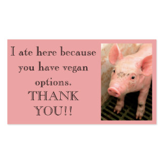 Vegan Outreach Thank You Cards Double-Sided Standard Business Cards (Pack Of 100)
