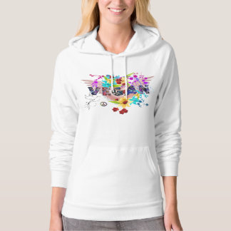Vegan ~ Peace ~ Celebration ~ Love Cotton Hoodie