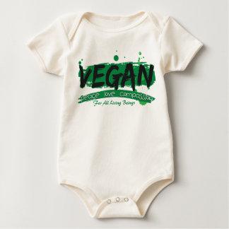 Vegan Peace Love Compassion Baby Bodysuit