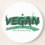 Vegan Peace Love Compassion Beverage Coaster