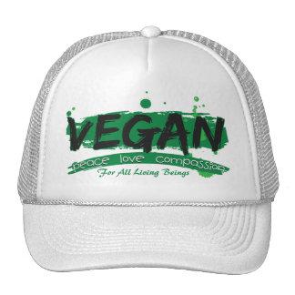 Vegan Peace Love Compassion Trucker Hat