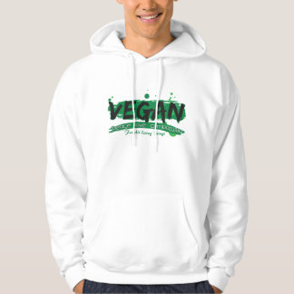 Vegan Peace Love Compassion Hooded Pullover