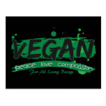 Vegan Peace Love Compassion Postcard