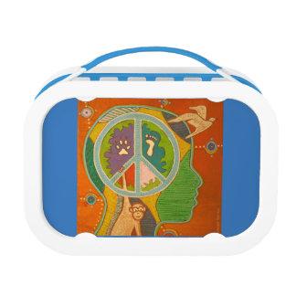 Vegan peace lunch box
