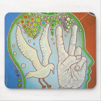 Vegan peace mouse pad