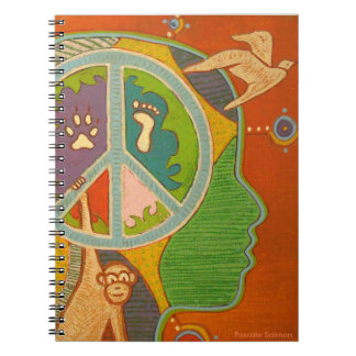 Vegan peace note book
