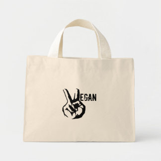 Vegan Peace Tote Bag