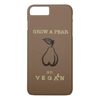 Vegan phone case. Grow a pear design. iPhone 8 Plus/7 Plus Case