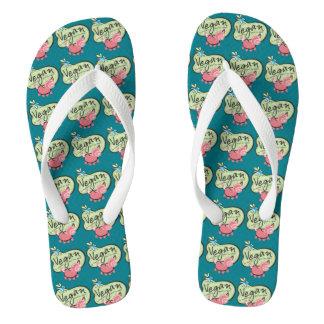 Vegan Pig Design Flip Flops