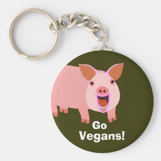 Vegan Pig Keychain