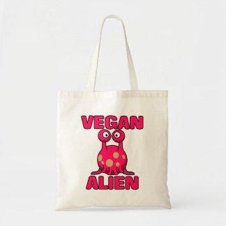 Vegan Pink Alien Tote Bag