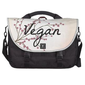 Vegan Pink Cherry Blossom Laptop Messenger Bag