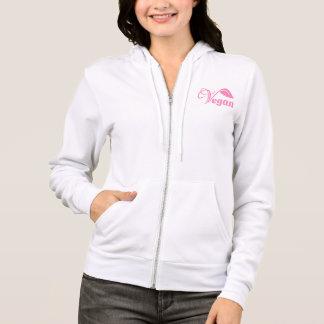 Vegan pink logo hoodie