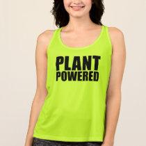 Vegan Plant Powered Simple Bold Black Text on Tee