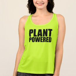 Vegan Plant Powered Simple Bold Black Text on Tee