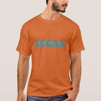 """VEGAN"" Plume Block Type Design - TURQUOISE T-Shirt"