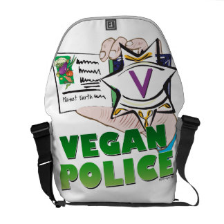 Vegan Police Courier Bags