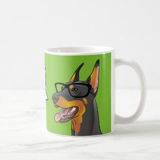 VEGAN! Pop Art Geek Dog Hipster Doberman mug