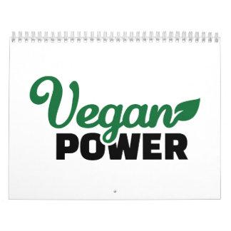Vegan power calendar