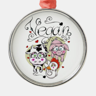 Vegan Premium Round Ornament