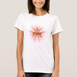Vegan - Pretty flower design T-Shirt