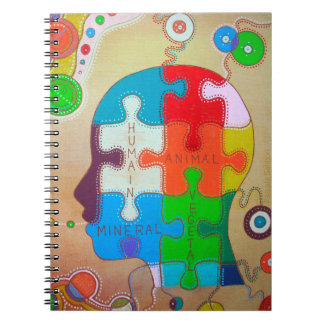 Vegan puzzle connection spiral notebook
