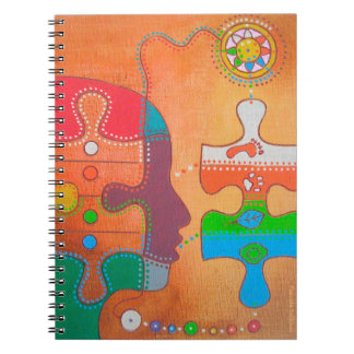 Vegan puzzle spiral note book