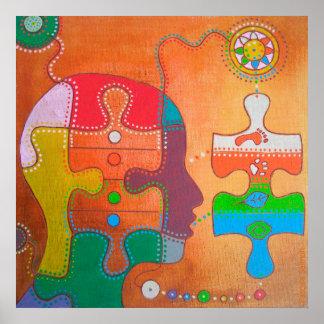 Vegan puzzle Poster