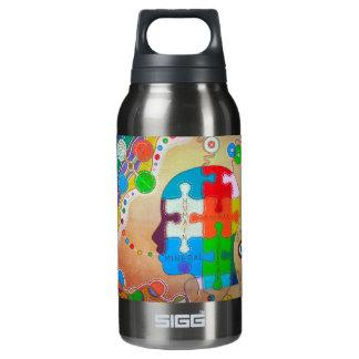 vegan puzzle thermos bottle