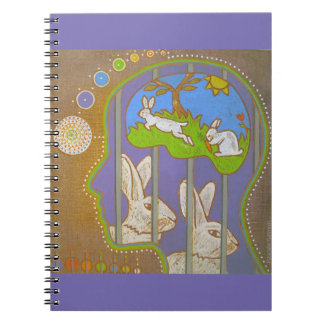 vegan rabbits release spiral note book