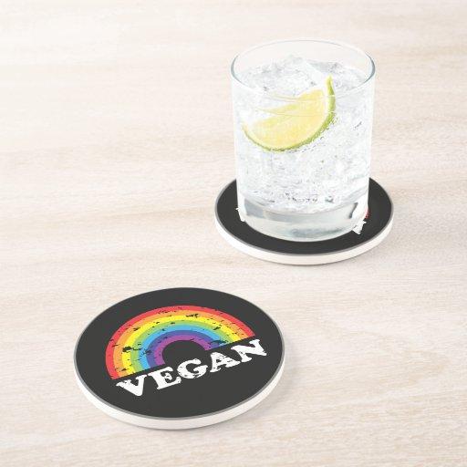 Vegan Rainbow Drink Coaster