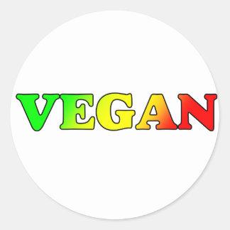 Vegan Rasta Classic Round Sticker