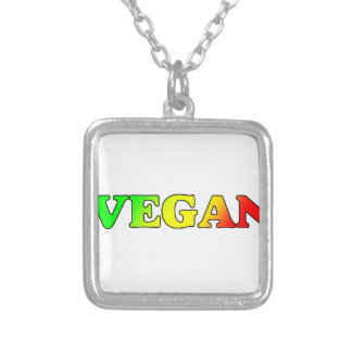 Vegan Rasta Silver Plated Necklace