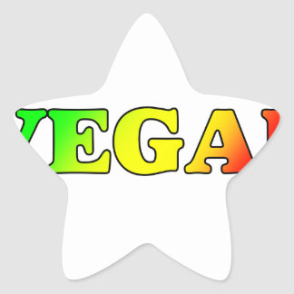 Vegan Rasta Star Sticker