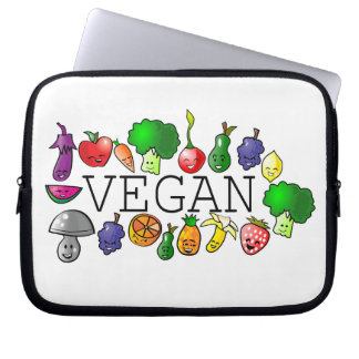 Vegan. raw food. fruit. animal rights. laptop computer sleeves