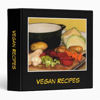 Vegan Recipes 3 Ring Binder