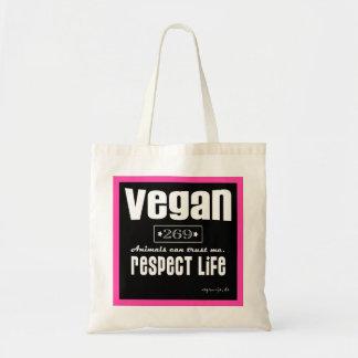 VEGAN - RESPECT LIFE - T09 TOTE BAG