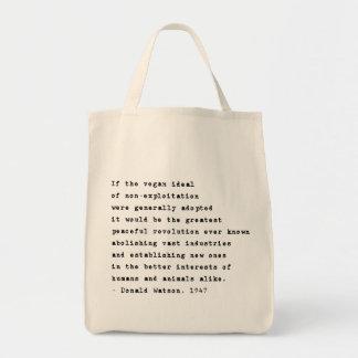 Vegan Revolution Big Grocery Tote Bag