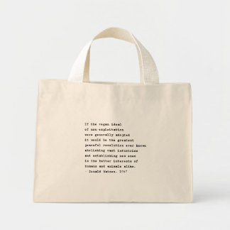 Vegan Revolution Mini Tote Bag