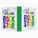 Vegan Rock Star 2 Recipe Book 3 Ring Binder
